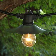 european cafe string lights 35 ft galvanized with a19 clear bulbs