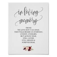 in loving memory wedding in loving memory wedding memorial table sign v4 zazzle
