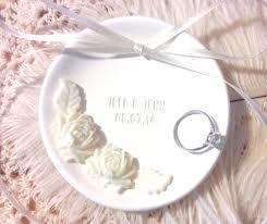 customize wedding ring white peony wedding ring bearer bowl customize wedding ring dish