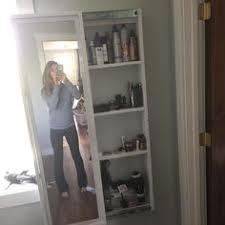 floor length mirror cabinet full length mirror sliding beauty storage cabinet ana white
