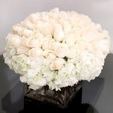 white flower arrangements 100 white roses