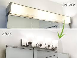 Cheap Bathroom Lighting Fixtures Updating Bathroom Light Fixtures Interior Lighting Design Ideas