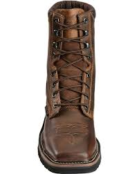 justin men u0027s stampede steel toe lace up work boots boot barn