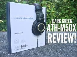amazon black friday audio technica dark green audio technica ath m50x unboxing and review limited