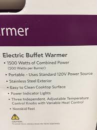 tramontina electric buffet warmer triple burner 7pc set ebay