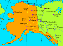 road map canada state road maps for alaska
