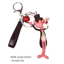european and american popular pink panther keychain key