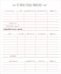 bi weekly budget worksheet weekly budget planner and money manager