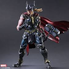 play arts kai s thor comes with a wonderfully swoosh y hammer