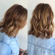 Warm Tone Hair Color Balayage Hair Natural Brown Balayage Short Haircolor Warm