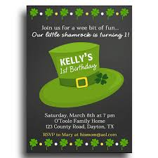 st patrick u0027s day invitation printable or printed with free