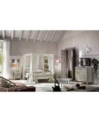 letto baldacchino a baldacchino in legno massello col bianco o avorio