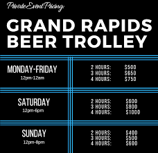 Hop On Hop Off Map New York by Grand Rapids Beer Trolley Hop On Hop Off