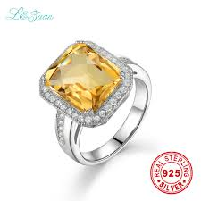 sted rings l zuan sterling silver jewelry ring citrine yellow luxury