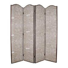 patina screen sg 155a 7 ft gray 4 panel room divider sg 155a