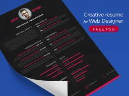 Online Resume Designer by Free Psd Creative Graphic Designer Resume Psd Template Free