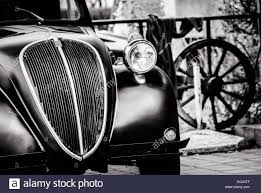 old cars black and white old fashioned car in america in 1936 stock photo royalty free