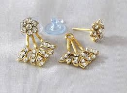 gold kaan earrings buy golden lotus kaan earring online