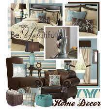 Teal Brown and Beige Home Decor Polyvore