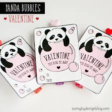sunny design panda bubbles free printable valentine card