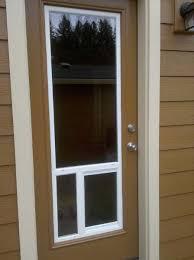 installing pet door in glass door residential glass repair portland gresham glass inc
