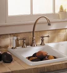 kohler revival kitchen faucet faucet k 16109 4a bv in brushed bronze by kohler