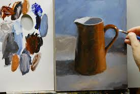 how to paint a warm u0026 cool still life painting using only 2 colours