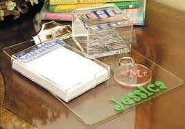 Mac Desk Accessories Wonderful Monogrammed Acrylic Desk Accessories All Home Ideas And