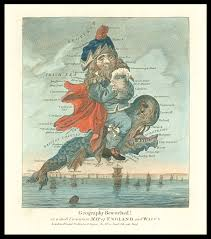 Map Of England And Wales Dighton U0027s Caricature Map Of England And Wales Maps Daniel