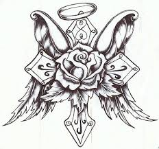 cross rose with wings by p nuthouse deviantart com on deviantart