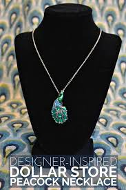 store necklace images Designer inspired dollar store peacock necklace mad in crafts jpg