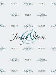wedding backdrop font custom wedding step and repeat backdrop white and blue color font