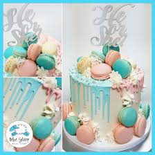 baby shower gender reveal macaron drip cake baby shower gender reveal nj blue sheep bake shop
