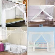 online get cheap 4 post canopy aliexpress com alibaba group 4 size 1pcs new white mosquito net student canopy bed four corner post netting twin queen