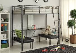 hakem convertible workstation loft bed acme furniture af 37520 2