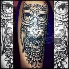 sugar skull owl design 2 months ago in tattoos 1