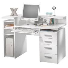 White Computer Desks For Home Sauder Harbor View Computer Desk Antiqued White Hayneedle