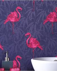 wallpaper with pink flamingos domestic sluttery wallpaper wednesday graham brown pink flamingos