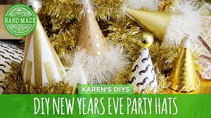 Printable New Years Eve Decorations 2016 by Diy New Years Eve Party Hats Hgtv Handmade Youtube