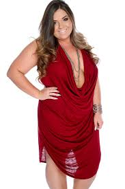 burgundy sleeveless draped plunging neckline plus size party