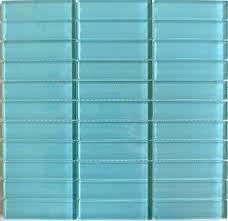glass tiles aqua glass subway tile in pool modwalls lush 1x4 modern tile