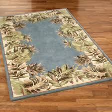 Area Rugs Tropical Paradise Border Tropical Area Rugs