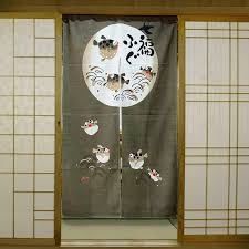 japan style burlap curtain korean restaurant curtain entrance