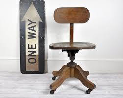 Swivel Chair Wheels by Vintage Wooden Desk Chair Swivel Repairing Vintage Wooden Desk