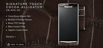 vertu phone 2016 new vertu signature touch in cocoa alligator zamkato
