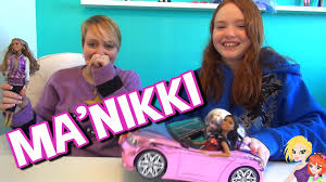 barbie convertible barbie style nikki doll gets a barbie convertible mommy and