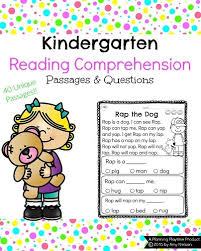 kindergarten reading comprehension passages planning playtime