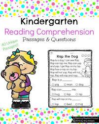 kindergarten reading practice planning playtime