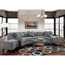 Circular Sectional Sofa Sofa Trendz Bindel Grey Curved Sectional Sofa With Ottoman Set