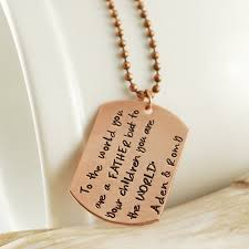 mens personalized dog tags copper sted mens necklace personalized dog tag necklace